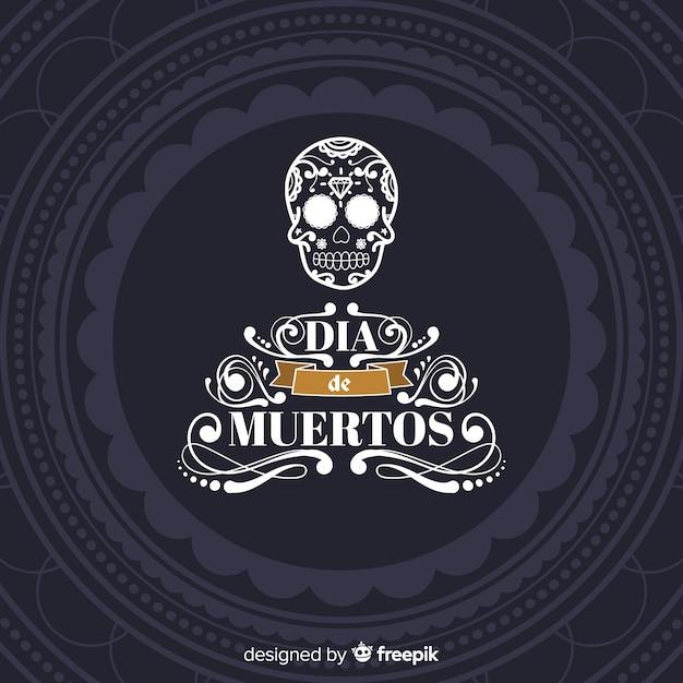 Kolorowa Ręka Rysujący Dãa De Muertos Tło Darmowych Wektorów