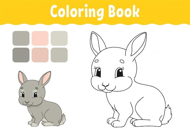 Kolorowanka Dla Dzieci. Wesoły Charakter. Ilustracja. Styl Kreskówka Premium Wektorów