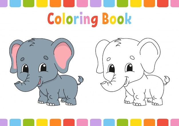 Kolorowanka dla dzieci. Premium Wektorów