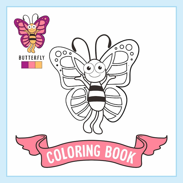 Kolorowanki Ze Zwierzętami Motylkowymi Premium Wektorów