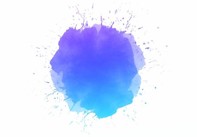 Kolorowe Abstrakcyjne Plamy Akwarela Darmowych Wektorów