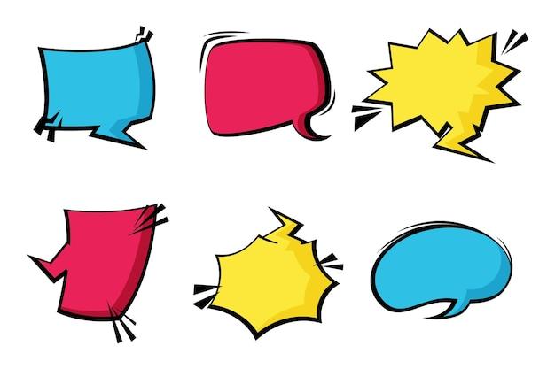 Kolorowe Balony Mowy W Stylu Papieru Darmowych Wektorów