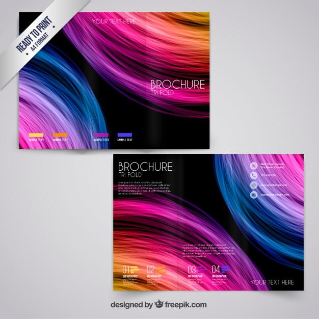 Kolorowe broszury w stylu abstrakcyjna Darmowych Wektorów