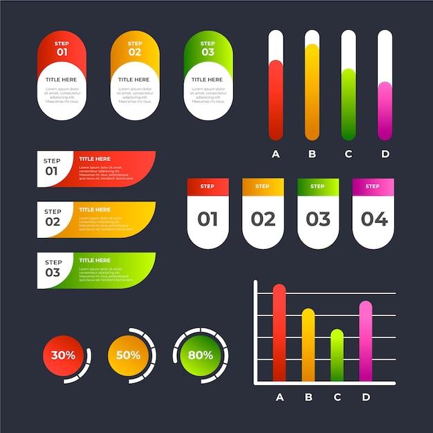Kolorowe elementy infographic infographic Darmowych Wektorów