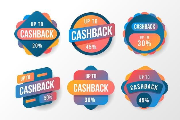 Kolorowe Etykiety Cashback Darmowych Wektorów