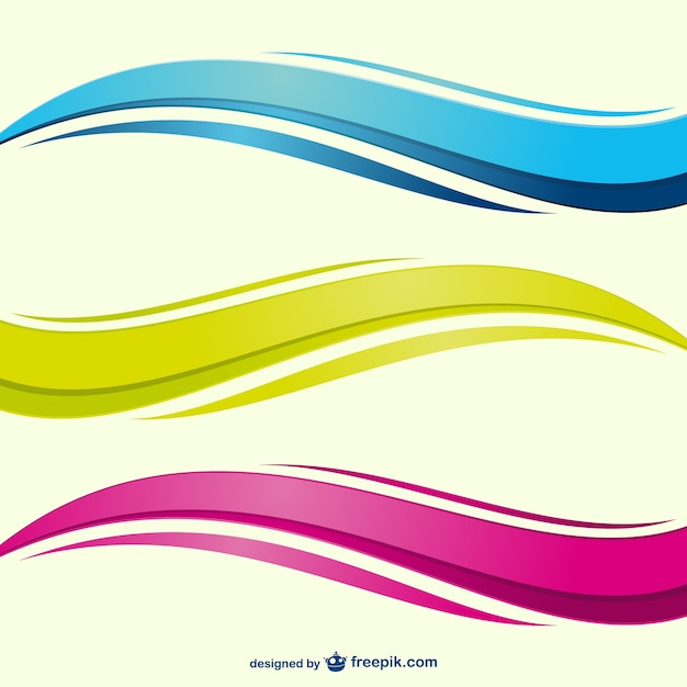Kolorowe Fale Wektor Darmowych Wektorów