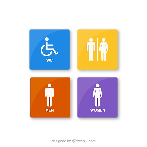Kolorowe ikony pokój odpoczynku Darmowych Wektorów