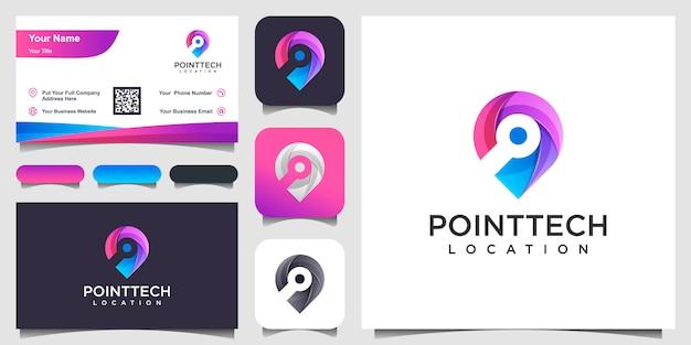 Kolorowe Inspiracje Lokalizacji Chipa I Wizytówki Premium Wektorów