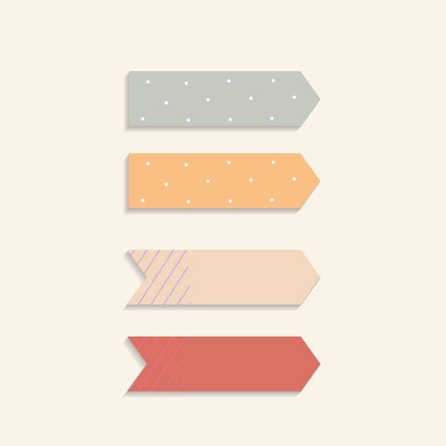 Kolorowe karteczki Darmowych Wektorów