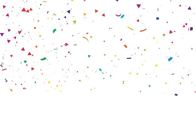 Kolorowe konfetti karnawał uroczystości celebration. Premium Wektorów