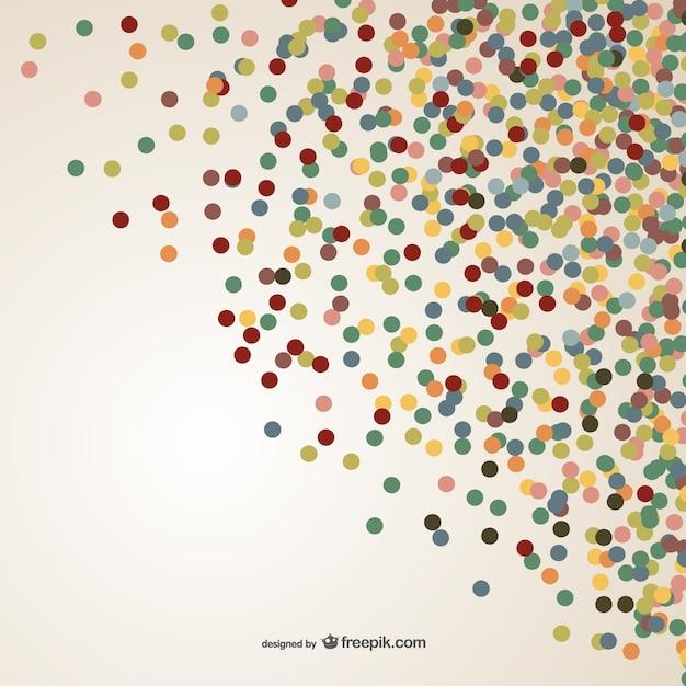 Kolorowe Konfetti Wektor Darmowych Wektorów