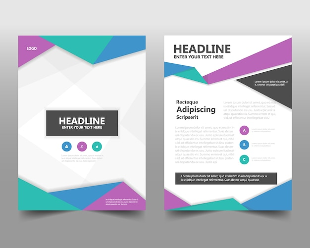 Kolorowe kreatywne roczne sprawozdanie szablonu książki Darmowych Wektorów