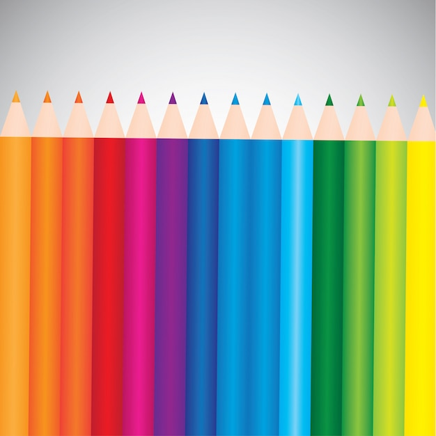Kolorowe Kredki Darmowych Wektorów