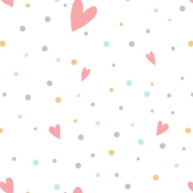 Kolorowe kropki z serca wektor Darmowych Wektorów