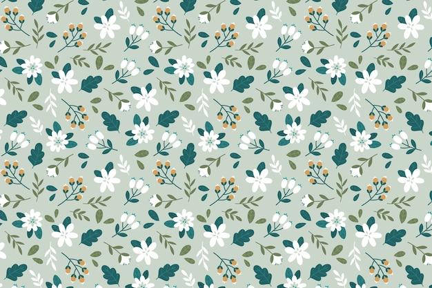Kolorowe kwiatowe tapety ditsy Darmowych Wektorów