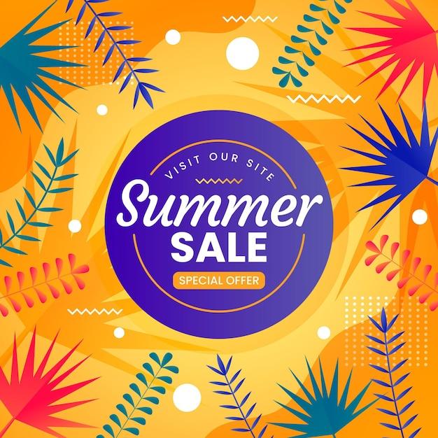 Kolorowe Lato Koncepcja Sprzedaży Darmowych Wektorów