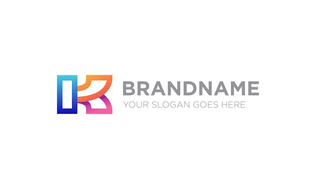 Kolorowe Logo Litery K. Premium Wektorów