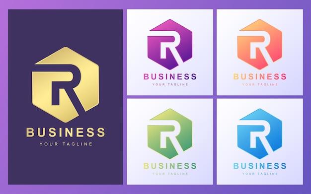 Kolorowe Logo Litery R Z Nowoczesną Koncepcją Premium Wektorów