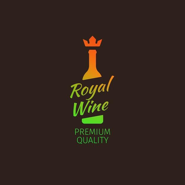 Kolorowe Logo Premium Wina Królewskiego Premium Wektorów