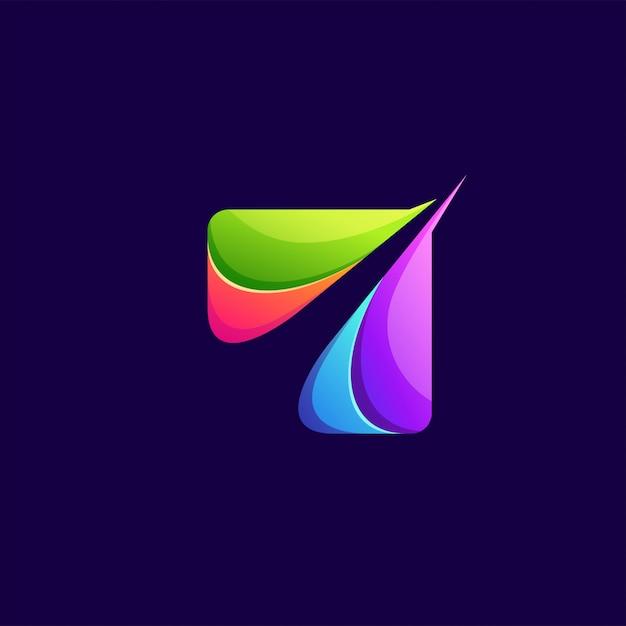 Kolorowe Logo Streszczenie Premium Wektorów