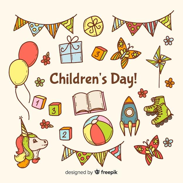 Kolorowe Losowanie Na Dzień Dziecka Darmowych Wektorów