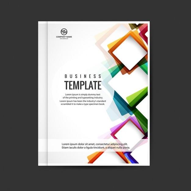 Kolorowe nowoczesne broszura Darmowych Wektorów