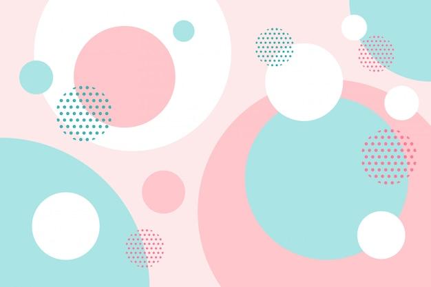 Kolorowe Okrągłe Płaskie Kształty Tła Premium Wektorów