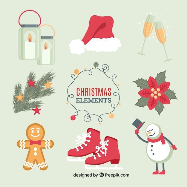 Kolorowe Opakowanie Boże Narodzenie Akcesoria Darmowych Wektorów