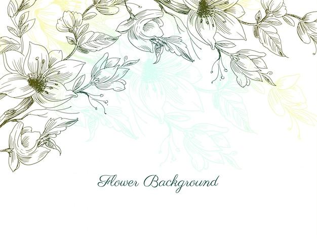 Kolorowe Ozdobne Ręcznie Rysowane Kwiat Wzór Tła Darmowych Wektorów