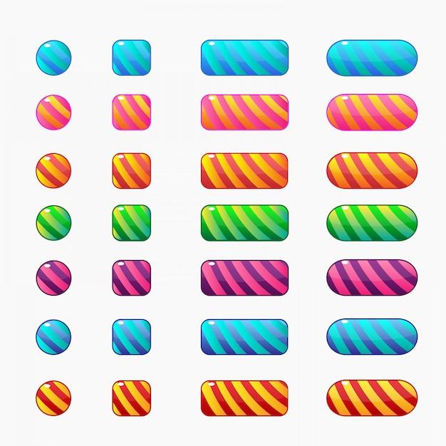 Kolorowe przyciski w stylu cukierków Premium Wektorów