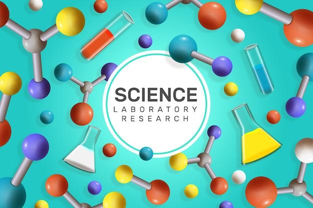 Kolorowe Realistyczne Tło Nauki Darmowych Wektorów