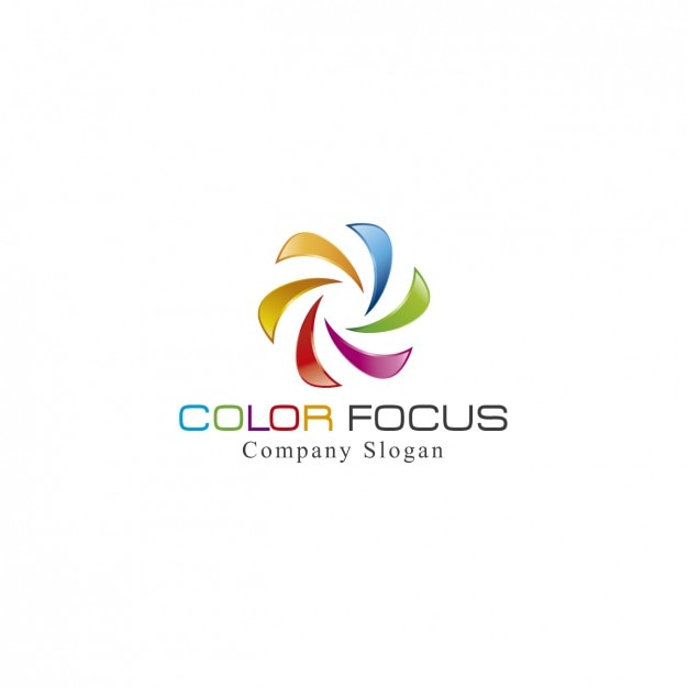 Kolorowe spiral szablon logo Darmowych Wektorów