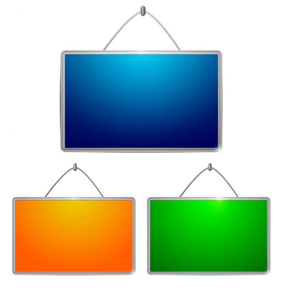 Kolorowe stoły Premium Wektorów