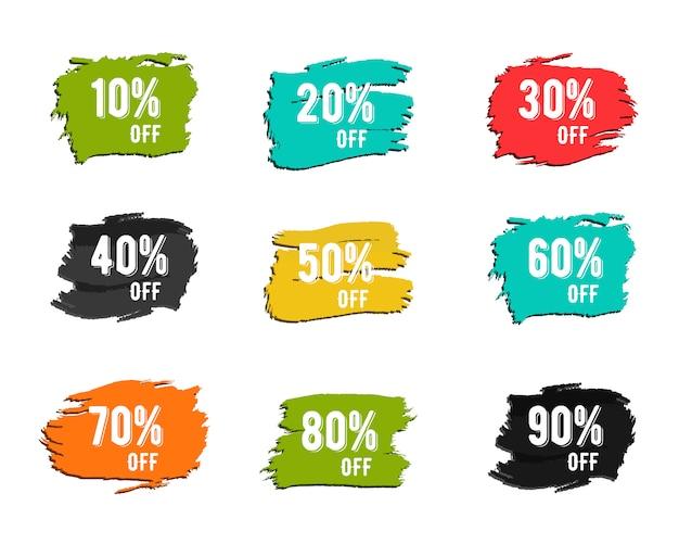 Kolorowe symbole zniżki Premium Wektorów