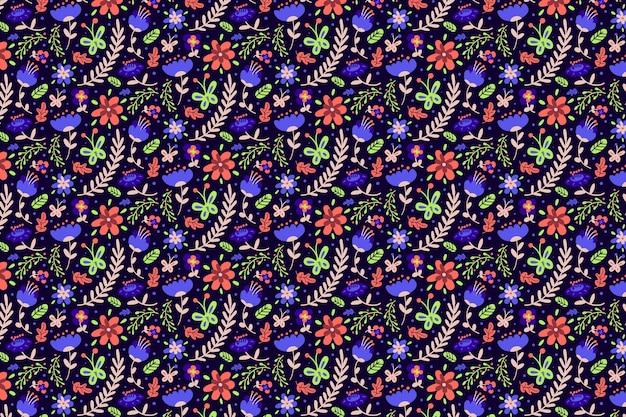 Kolorowe Tapety Ditsy Kwiaty Darmowych Wektorów