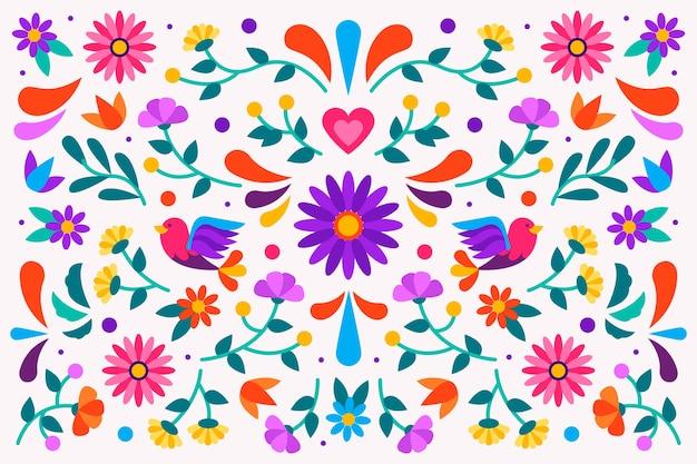 Kolorowe Tapety Meksykańskie Darmowych Wektorów