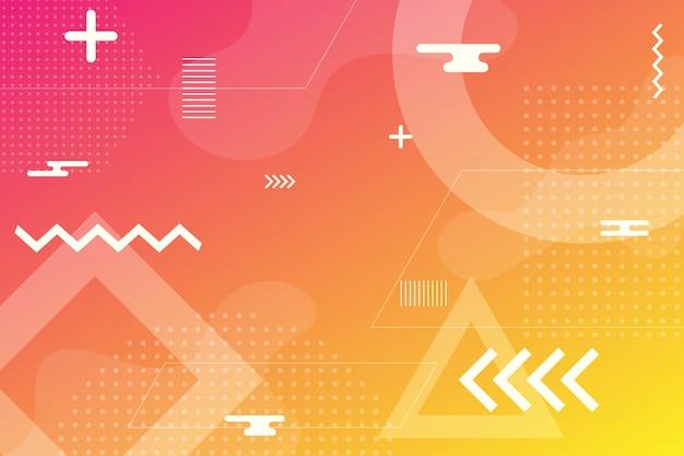 Kolorowe tło abstrakcyjne przy użyciu minimalnej geometrii jako elementu. Premium Wektorów
