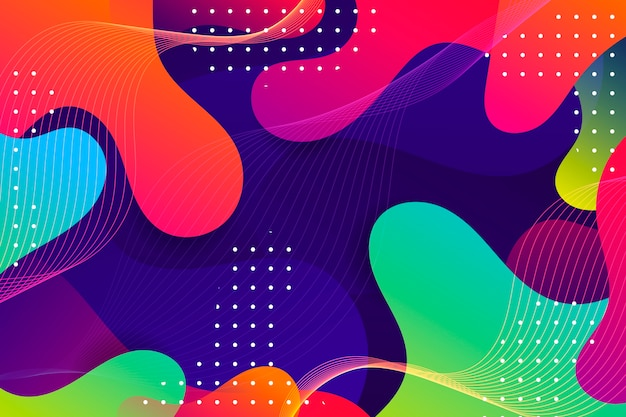 Kolorowe Tło Abstrakcyjne Darmowych Wektorów