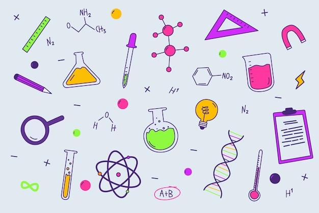 Kolorowe Tło Edukacji Nauki Darmowych Wektorów