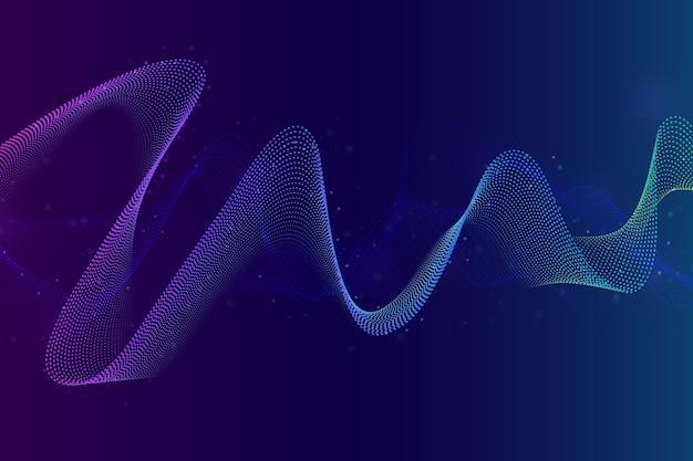 Kolorowe Tło Fali Dźwiękowej Darmowych Wektorów