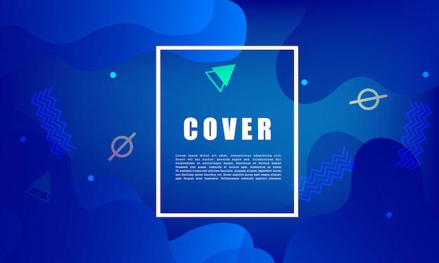 Kolorowe tło geometryczne. płynny kształt kompozycji. projekt plakatu, ulotki, wektor Premium Wektorów