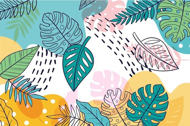 Kolorowe Tło Lato Do Powiększenia Darmowych Wektorów