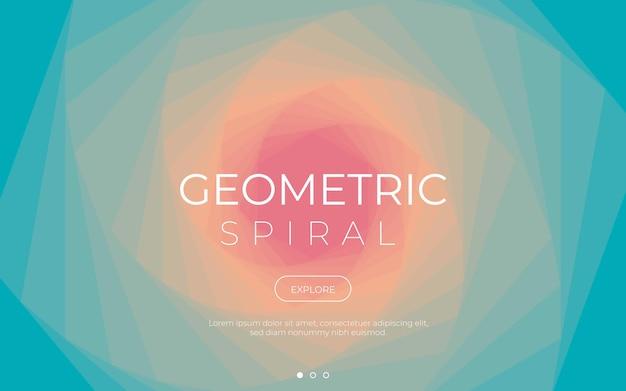 Kolorowe Tło Spirali Geometrycznej Darmowych Wektorów