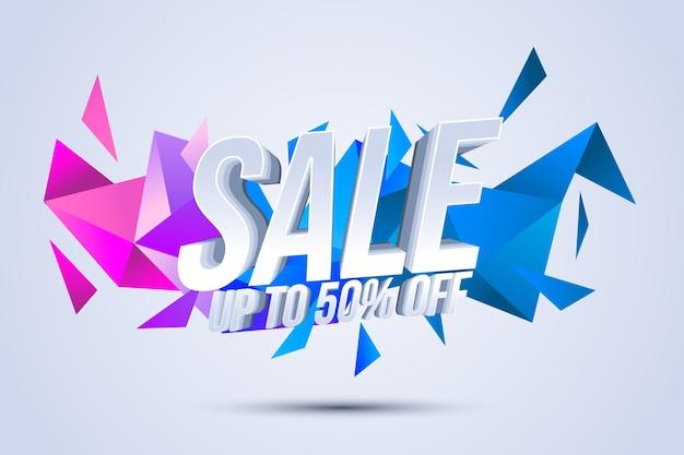 Kolorowe Tło Sprzedaży 3d Darmowych Wektorów