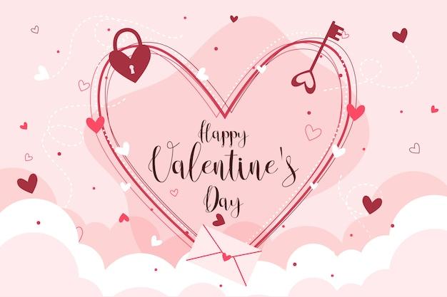 Kolorowe Tło Valentine's Day Darmowych Wektorów