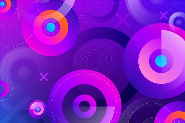 Kolorowe Tło Z Okrągłymi Kształtami Darmowych Wektorów