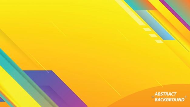 Kolorowe tło z paskami. Premium Wektorów