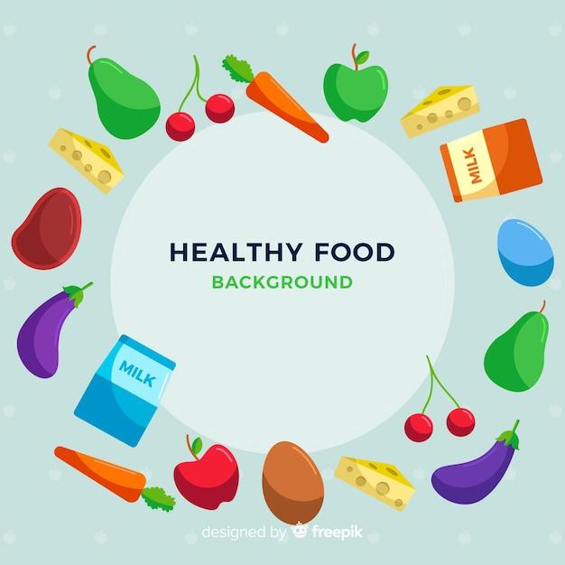Kolorowe tło zdrowej żywności Darmowych Wektorów