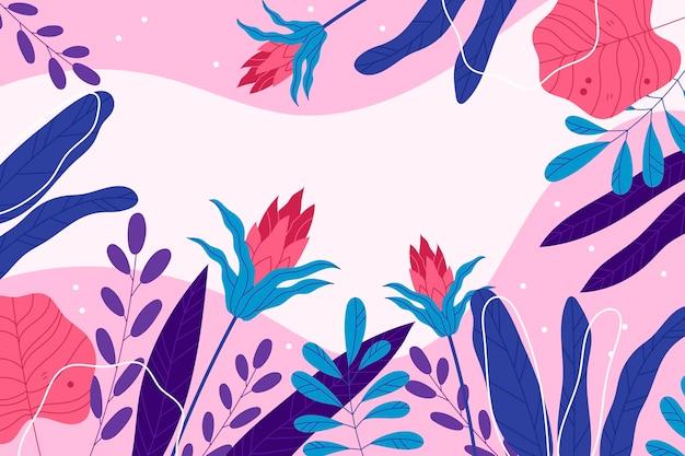 Kolorowe Tropikalne Tapety Z Pustą Przestrzenią Darmowych Wektorów