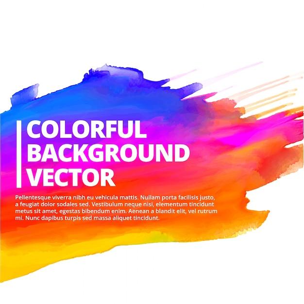 Kolorowe Tuszem Powitalny Tle Ilustracji Wektorowych Projektowania Darmowych Wektorów